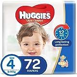 Huggies Ultra Comfort Diapers, Size 4, 8-14 kg, 72 Count (KC714)