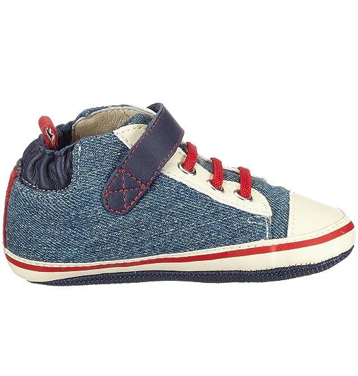 Robeez Home Run High Top - Zapatos para niño, color azul, talla 18