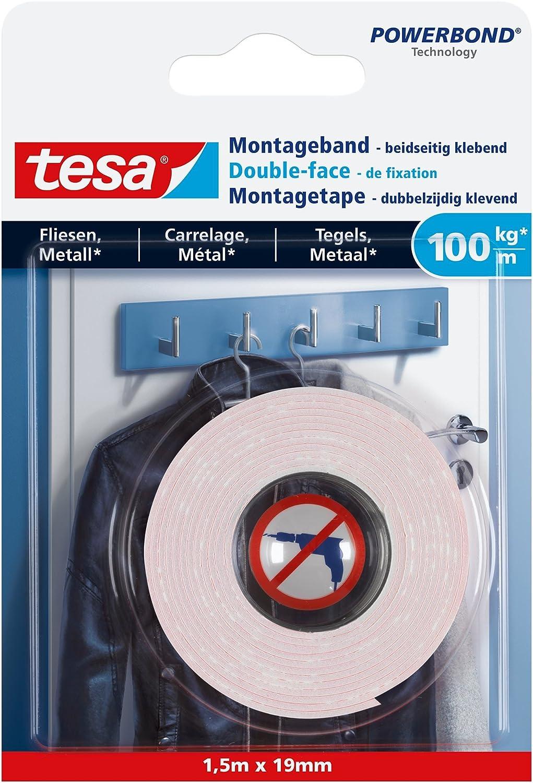 1x Tesa Ultra Starkes Montageband Doppelseitig Klebeband Fliesen//Metall