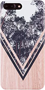 DICHEER iPhone 7 Plus Case,iPhone 8 Plus Case,Forest and Wood Design, Slim Fit Phone Cases,Anti Scratch Shockproof Matte TPU Case Flexible Silicon Gel Cover for iPhone 7 Plus iPhone 8 Plus 5.5 inch