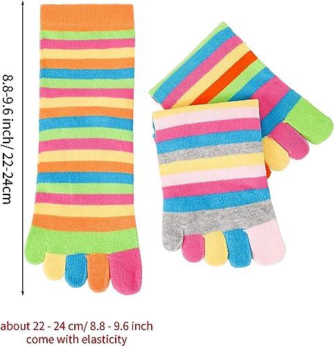 nobrand 6PCS Cinque dita Calzini da donna Calzini svegli Split Toe Socks casual Calzini a cinque dita calze sportive Toe Socks brevi calzini traspirante