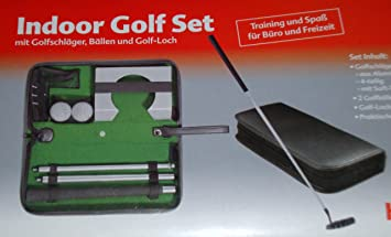 Indoor Golf Set fürs Büro Puttingset Golfset: Amazon.de: Sport ...