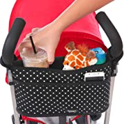 Stroller Organizer Caddy with Deep Insulated Cup Holders | Universal Fit | Stroller Storage Bag Hangs Straight | Stroller Accessory for Uppababy Vista, Cruz, City Mini, Bob, Britax, Babyzen, Bugaboo