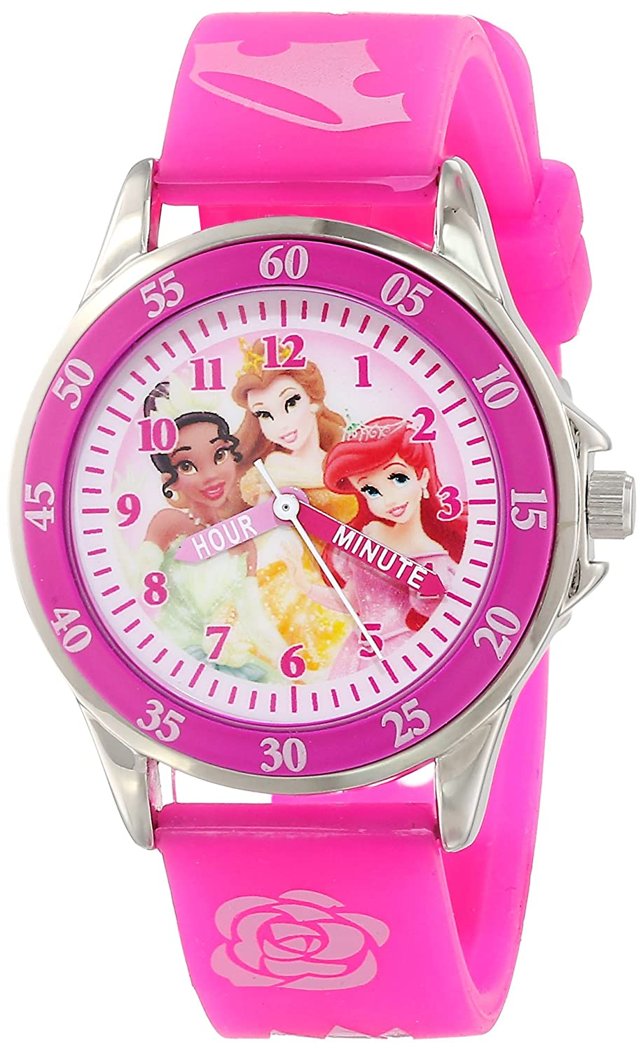 Amazon.com: Disney Kids\' PN1051 Disney Princess Watch with Pink Band ...