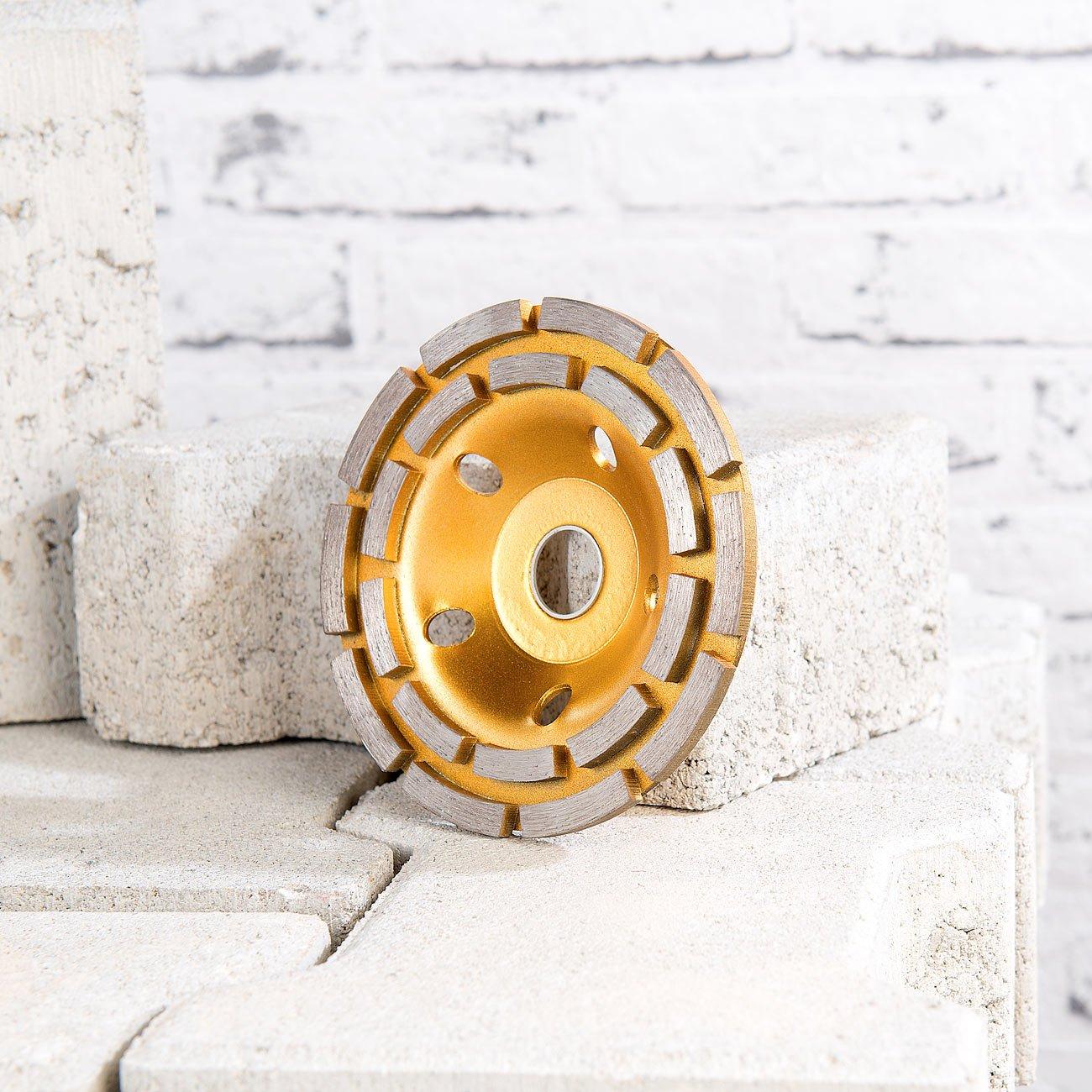 meuleuse /à meules AGT NX-5847 Professional Disque /à meuler diamant pour meuleuse dangle 2 anneaux 125 mm Dor/é