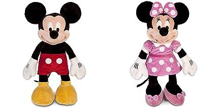 Amazon Com Mickey Mouse Plush Large 25 And Minnie Mouse Plush