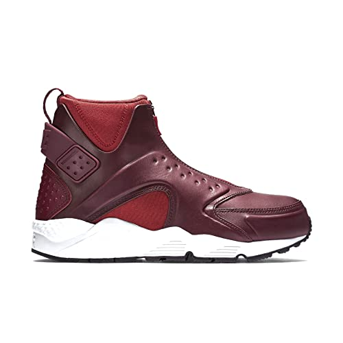 competitive price 943c9 7bbab NIKE Women's W Air Huarache Run MID Black/Bright Crimson 807313-600