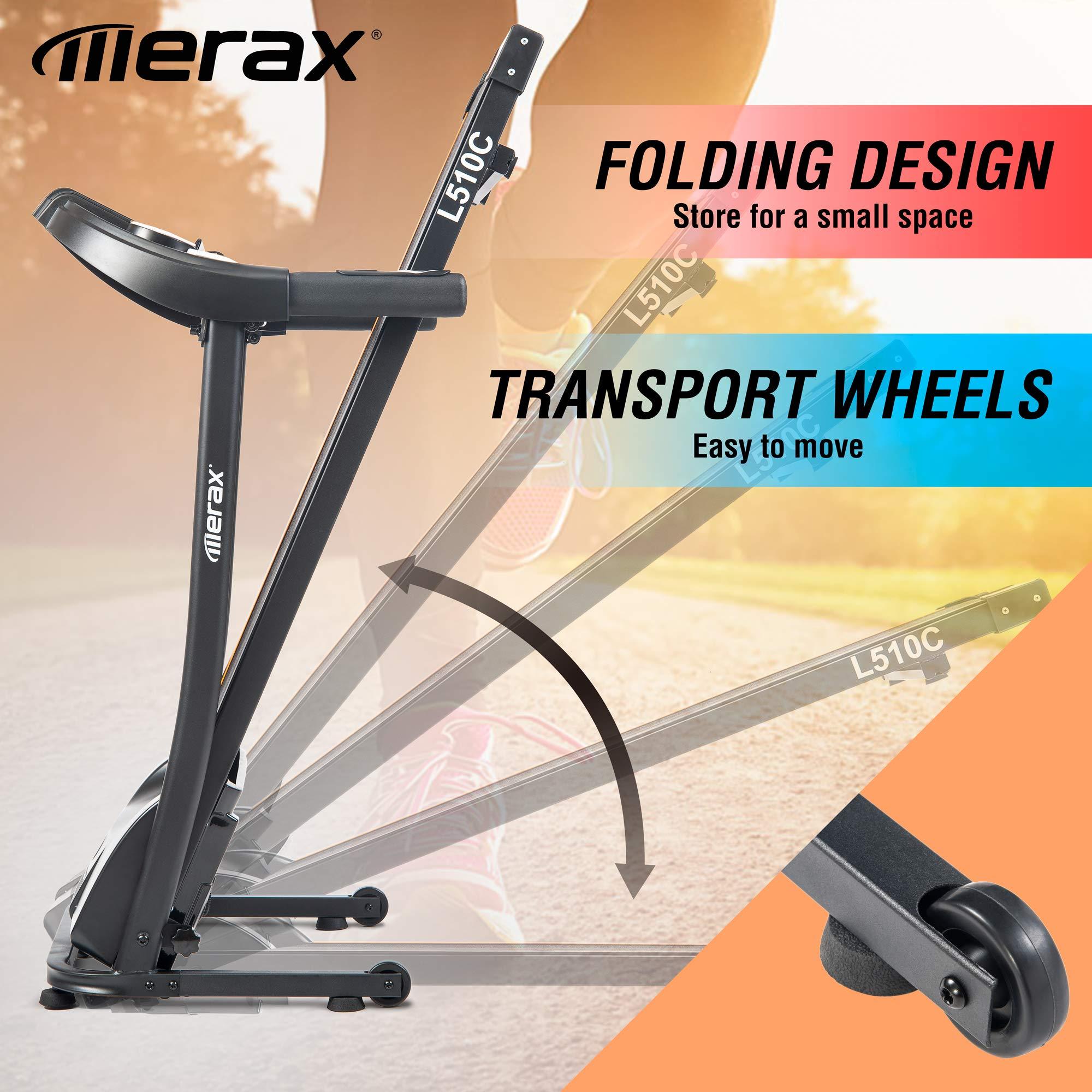 Merax Easy Assembly Folding Electric Treadmill Motorized Running Machine by Merax (Image #4)