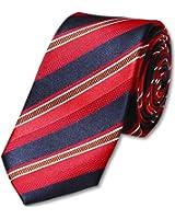 s.Oliver BLACK LABEL Herren Krawatte, gestreift 12.301.91.1006