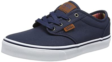Vans YT Atwood Waxed Dress Blue Textile 5 M US Big Kid