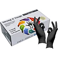 Heavy Duty Nitrile Gloves, Infi-Touch Strong & Tough, High Chemical Resistant, Disposable Gloves, Powder-Free, Non Sterile, Ambidextrous, Finger Tip Textured (1, X-Small)