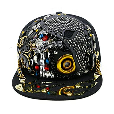 120b43a55ba1f Hip Hop Caps Men Women Steampunk Baseball Caps Shows Luxury Design Flat  Bone Snapbacks Punk Hiphop