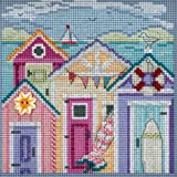 Cabana Beach Beaded Counted Cross Stitch Kit Mill Hill 2018 Buttons Beads Spring MH141815