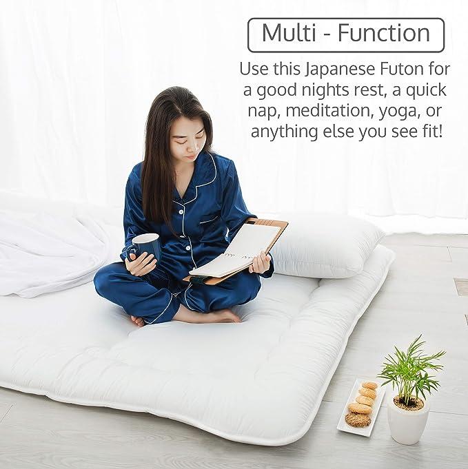 Amazon.com: Luxton Home Shiki Futon - Colchón plegable ...