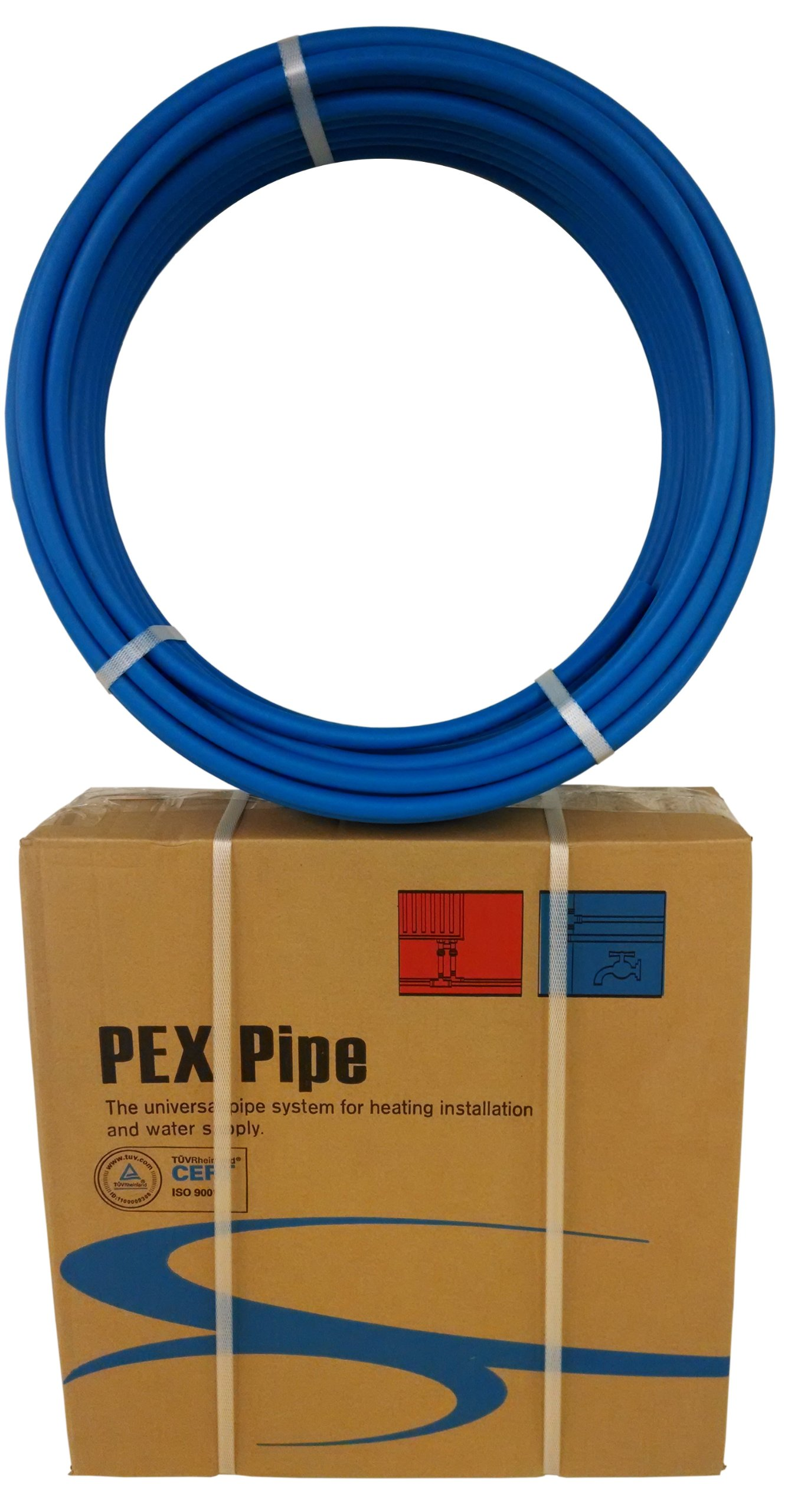 1/2'' x 500ft Blue Pex Tubing/Pipe Pex-B 1/2-inch 500 ft Potable Water NonBarrier Plumbing by VIVO (PEX-12-B050)