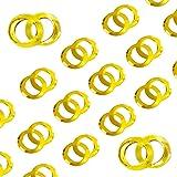 Oblique-Unique® Doppel Ringe Konfetti - Gold Glänzend Streuteile Tisch Deko Streudeko Hochzeit