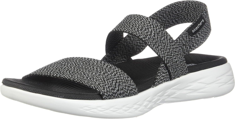 Mencionar traqueteo Resistente  Skechers Women's On-The-Go 600 Ideal Sport Sandal Blk/Wht 8 M US | Sport  Sandals & Slides - Amazon.com