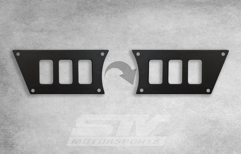 2015 Polaris RZR XP 1000 Black Aluminum Dash Panel Kit With 4 Laser Switches NEW