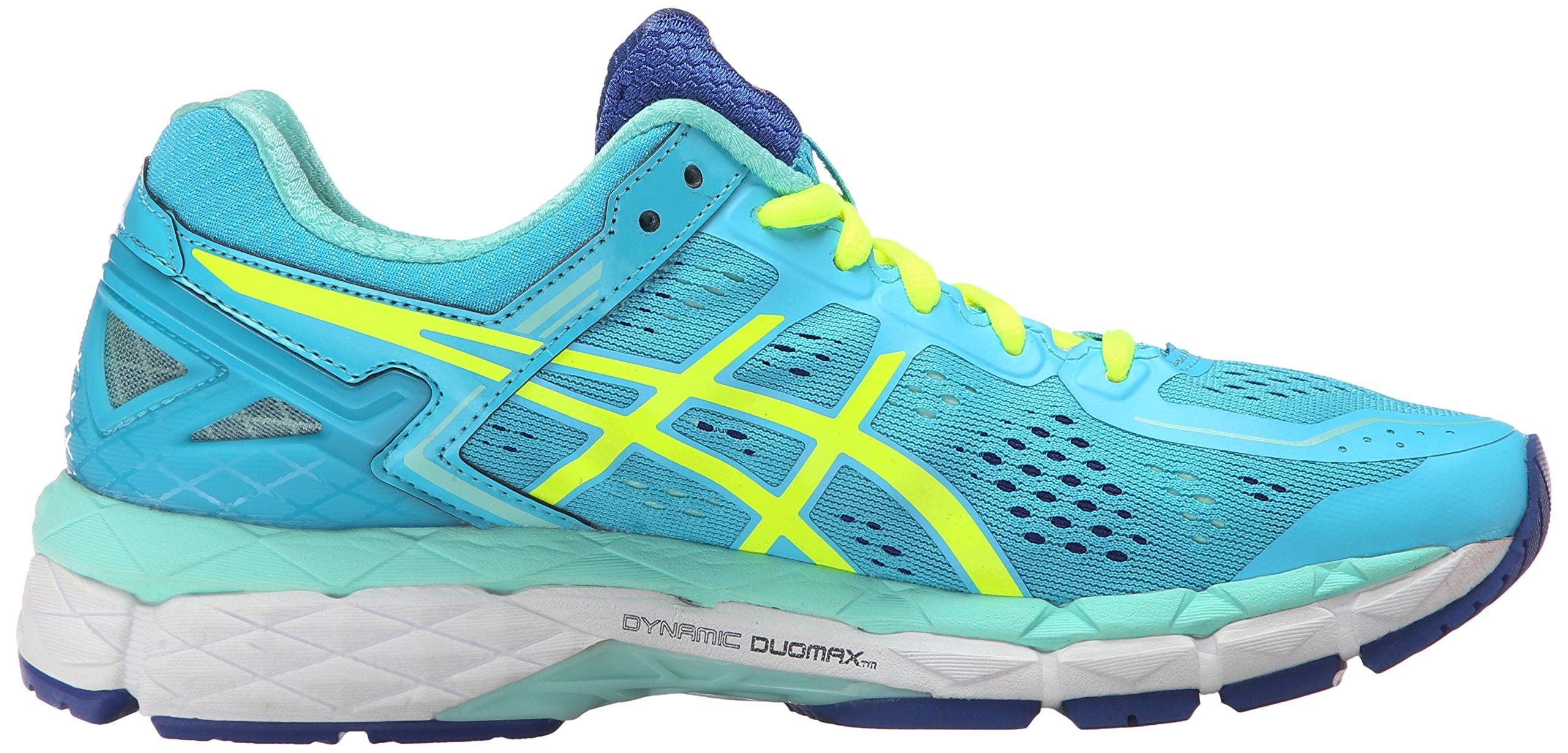 ASICS Women's Gel Kayano 22 Running Shoe, Ice Blue/Flash Yellow/Blue, 7.5 M US