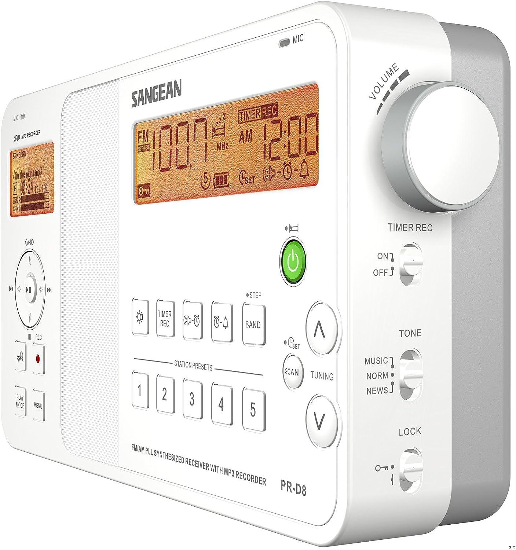 Sangean PR-D8 Portátil Digital Blanco: Amazon.es: Electrónica