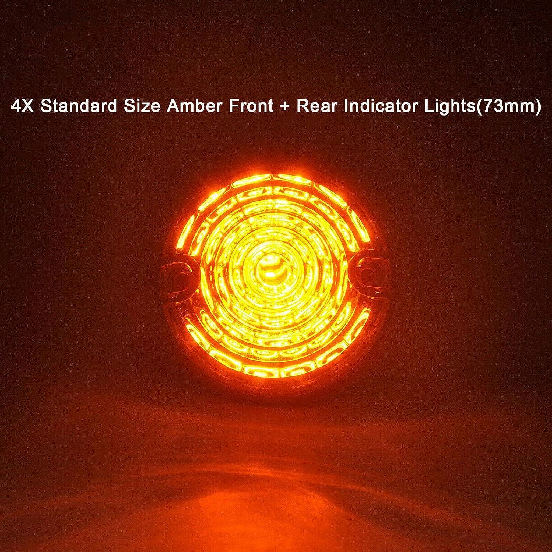 NSLUMO 8 Stueck 73mm Ger/äucherte Linse Defender LED Licht Units Bernstein Anzeigeseitenlicht Hinterer Anschlag R/ücklicht F/ür Defender 90//110