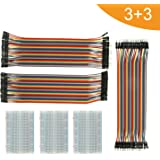 Breadboard Solderless with Jumper Cables– ALLCA BB-105 3Pc 400 Pin Prototype PCB Board and 3Pc Dupont Jumper Wires (Male-Female, Female-Female, Male-Male) for Raspberry Pi and Arduino