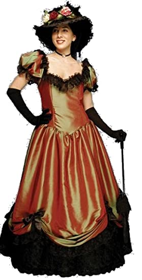 1890s-1900s Fashion, Clothing, Costumes Deluxe Belle Watling