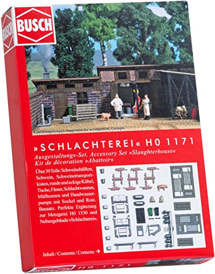 Busch 7783 Beer Mugs and Spigots HO Scenery Scale Model Scenery MODELS11 INC