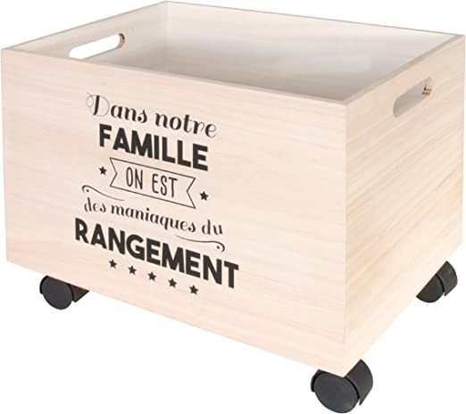 THE HOME DECO FACTORY hd4683.almacenaje con roulettes, 2.pcs, madera, 40 x 29 x 31,50 cm, Beige/Negro: Amazon.es: Hogar