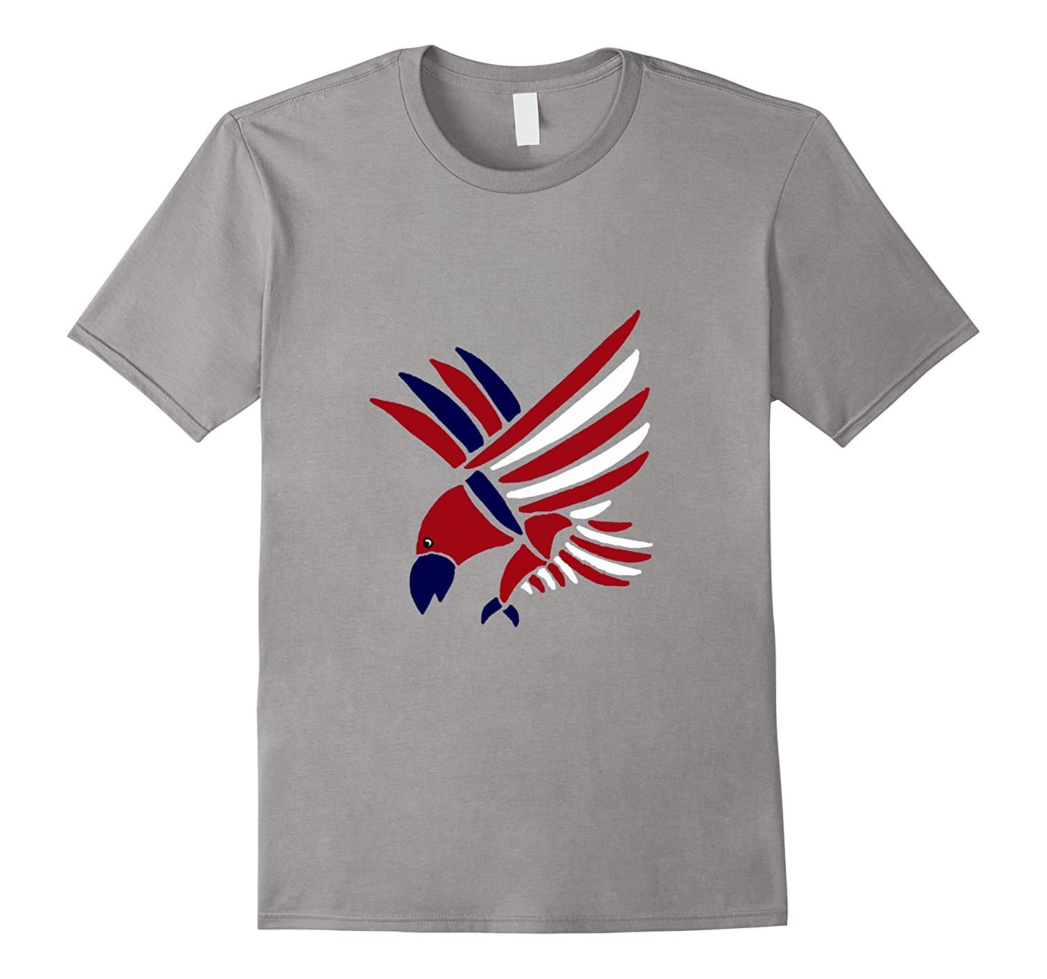 Smiletodaytees Patriotic Red White and Blue Eagle T-shirt-TD
