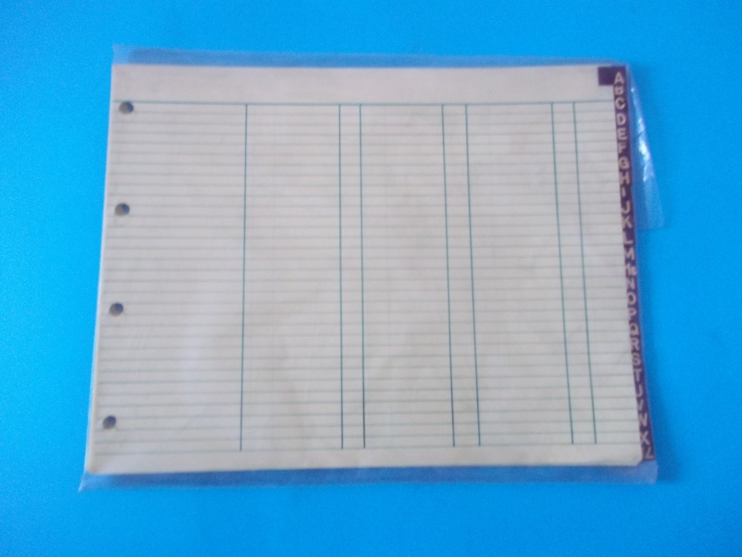Kleer Fax K912L A-Z Ledger Dividers 1/4'' (H) x 12'' (W) Leather Tabs With Gold Colored Lettering