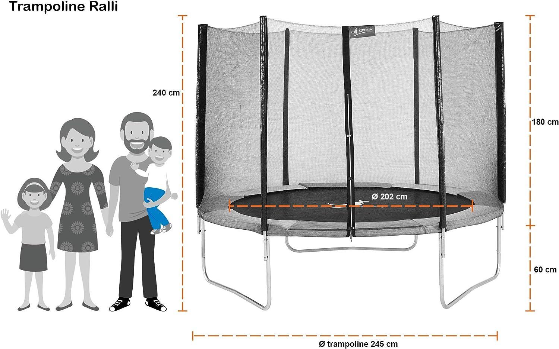 Kangui RALLI - Cama elástica redonda con red de seguridad ...