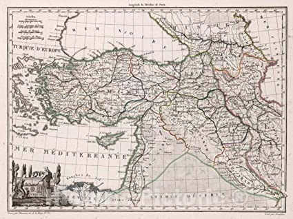 Amazon.com: Historic Map | World Atlas Map, Turquie d'Asie ... on bangladesh map, religion map, portugal map, nature map, afrique map, africa map, voyage map, europe map, iran map,