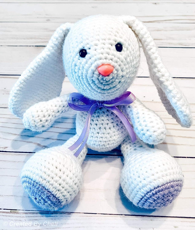 Plush Bunny amigurumi: crochet toy pattern | Amiguroom Toys | 1500x1270