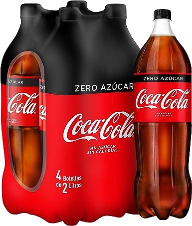 Coca Cola Zero Refresco - Paquete de 4 x 2 L - Total: 8 L: Amazon.es: Alimentación y bebidas
