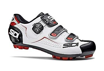 Sidi Trace MTB - Zapatillas de Ciclismo, Color Blanco, Negro y Rojo: Amazon.es: Deportes y aire libre