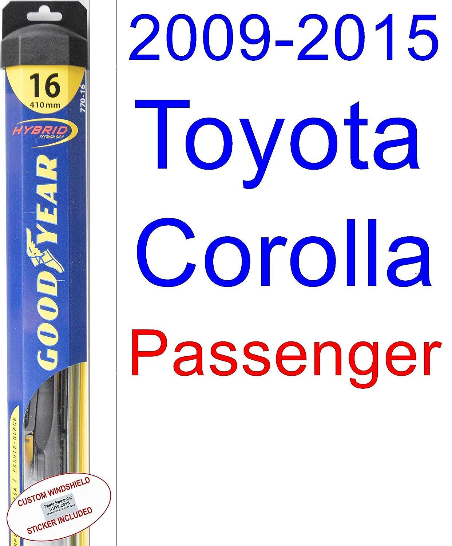 Amazon.com: 2009-2015 Toyota Corolla LE Replacement Wiper Blade Set ...