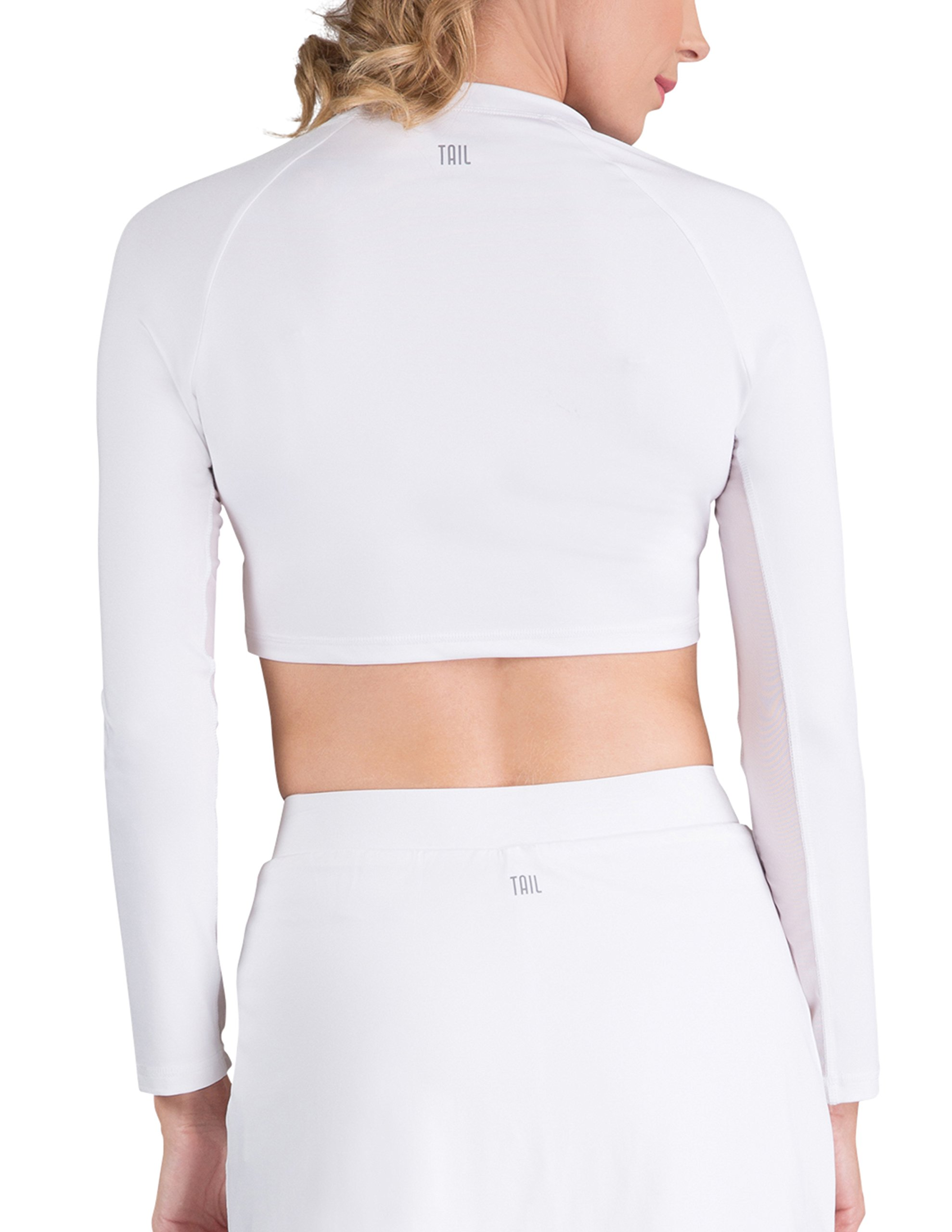 Tail Activewear Women's Sasha Crop Top Large White by Tail (Image #2)