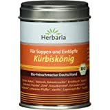 Herbaria Kürbiskönig Suppen und Eintopfgewürz, 1er Pack (1 x 90 g Dose) - Bio