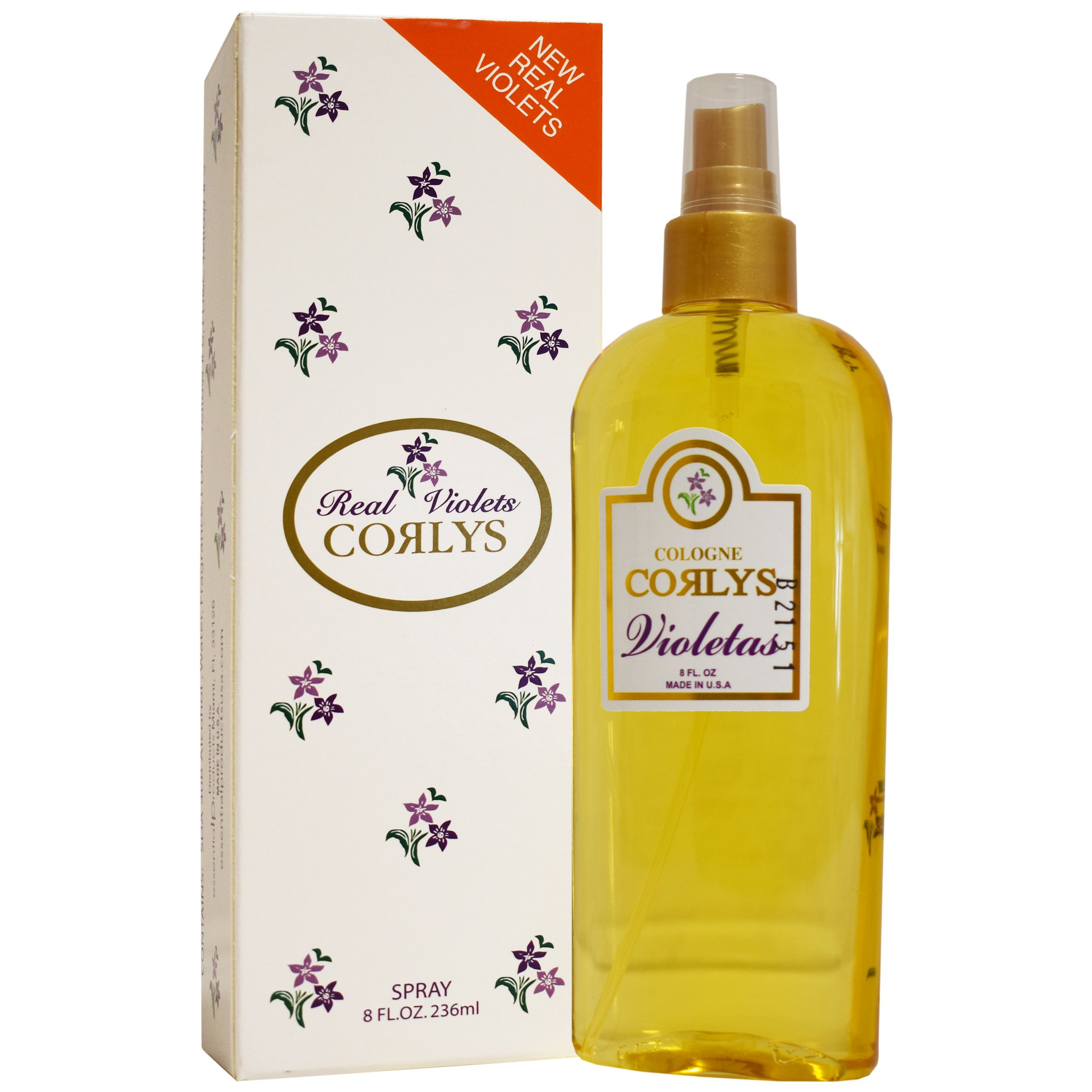 Corlys Real Violets Spray Cologne 8 Oz