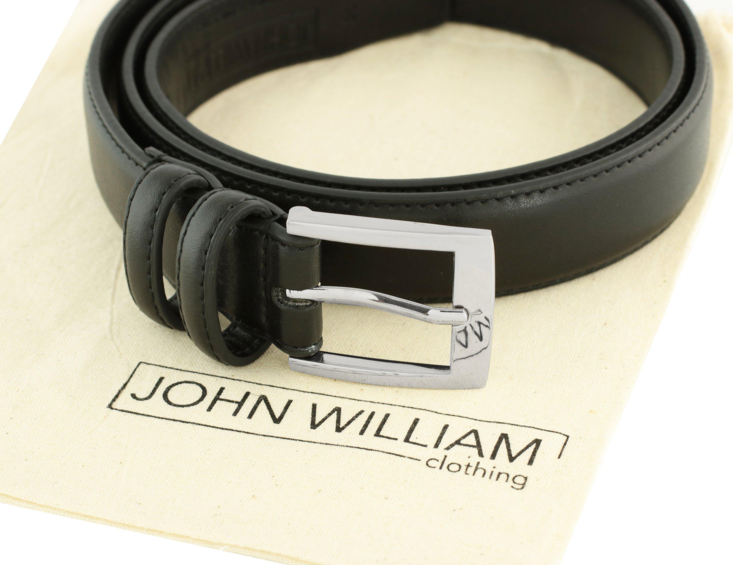 Leather Belts For Men - Mens Black Belt - 1.25'' Dress & Casual Men's Belt in Gift Bag - 36 by John William Clothing (Image #2)