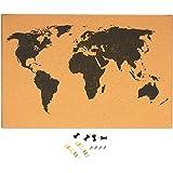 Amazon.com : Juvale USA Map Cork Board - Wall-Mounted Hanging ...