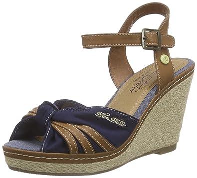 6f5c586aca5759 TOM TAILOR Damen Damenschuhe Knöchelriemchen  Amazon.de  Schuhe ...