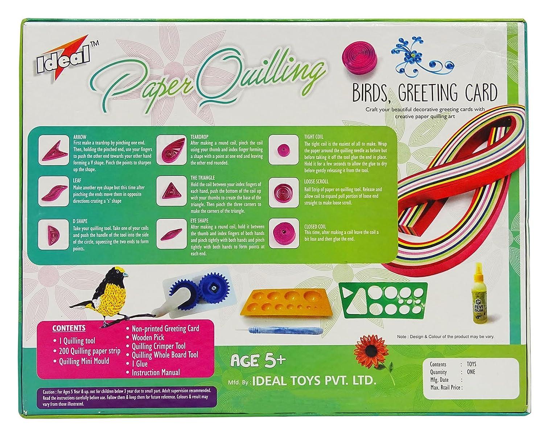 Amazon ideal birds greeting card 2 in 1 paper quilling amazon ideal birds greeting card 2 in 1 paper quilling children creativity diy kit toys games m4hsunfo