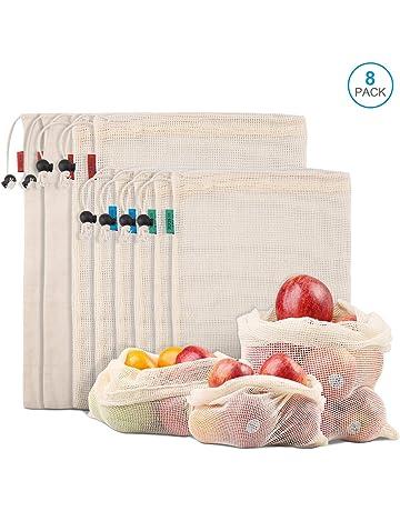 0af73b8d3 Kupton Bolsas de Comida para Fruta,Juguetes y Libros-Bolsas de Comestibles  Hechas de