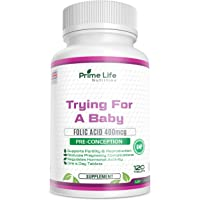 Pre-Conception | Trying for a Baby 2-in-1 Supplement | 120 Tablets (4 Month Supply) with Folic Acid 400mcg | Promoting a Healthy Pregnancy