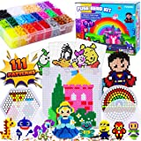FunzBo Fuse Beads Craft Kit - 111 Patterns Melty Fusion Colored Beads Arts and Crafts Pearler Set for Kids - 5500 5mm…