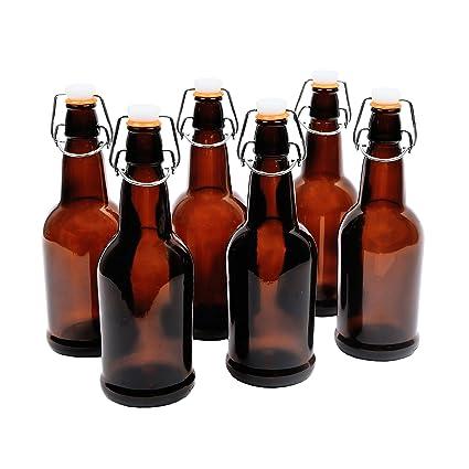Caja de 6 botellas de cerveza de cristal (450 ml/16-oz)