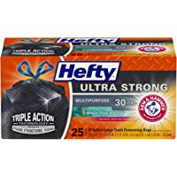 50-Count (2-Pk X 25) Hefty Ultra Strong Large Trash Bags (30 Gallon)