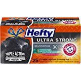 Hefty White Pine Breeze Ultra Strong Large Trash Bags (Multipurpose, Pine, Drawstring, 30 Gallon, 25 Count)(Black)